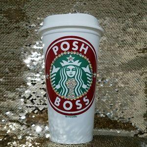 Starbucks Other - Poss Boss Starbucks Plastic 16 Oz.Bling Coffee Cup